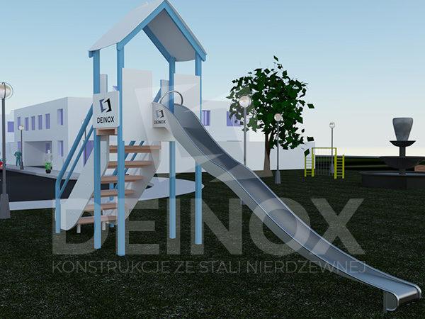 zjeżdżalnie na plac zabaw - zjeżdżalnie łączone do wieży